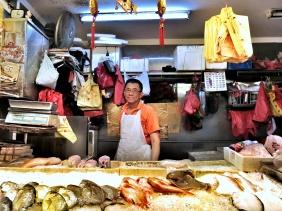 Samuel the fishmonger at Bishan market in Singapore