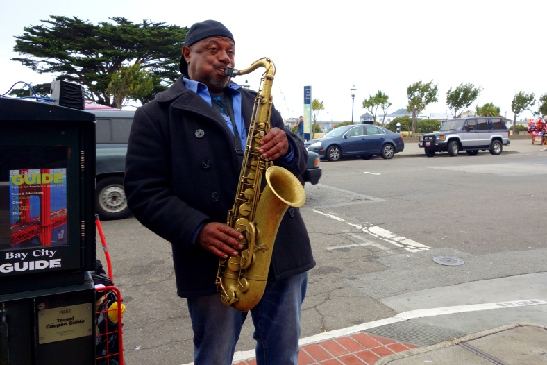 Shopkeeper Stories - saxaphone in San Francisco Ghirardelli Chocolate