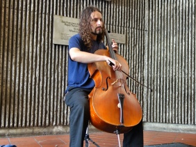 Shopkeeper Stories - cello player in the BART in San Francisco