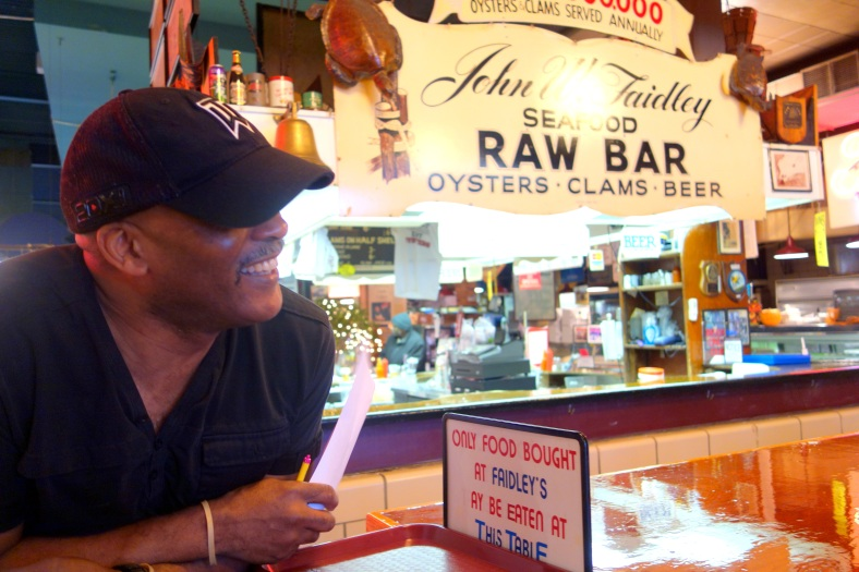 Shopkeeper Stories at Lexington Market in Baltimore small business enterprise Faidley's seafood crab cakes oysters muskrats raccoons  Bill Devine
