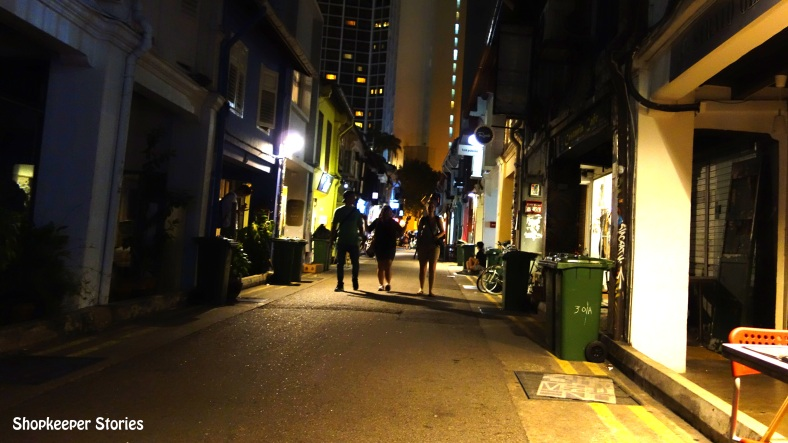 Night at Arab Street in Singapore