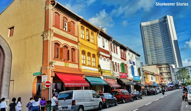 Abel Neoh from Mainzsq in Singapore running a small business that sells electronic gadgets through ecommerce in an interview with Shopkeeper Stories - photo of Arab Street in Singapore