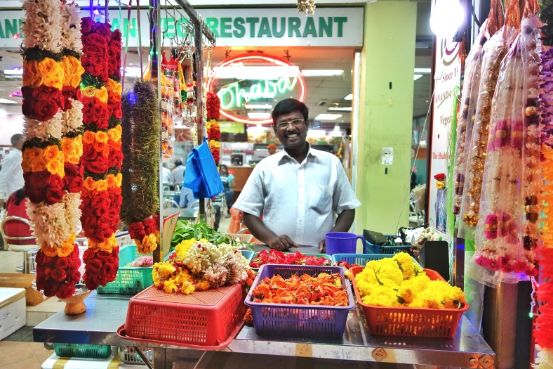 Flowers in Little India in Singapore (Shopkeeper Stories)