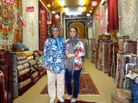 Shop at Arab Street in Singapore selling Persian carpets from Iran