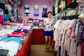 Bra shop selling lingerie and pajamas at the market in Singapore | Shopkeeper Stories