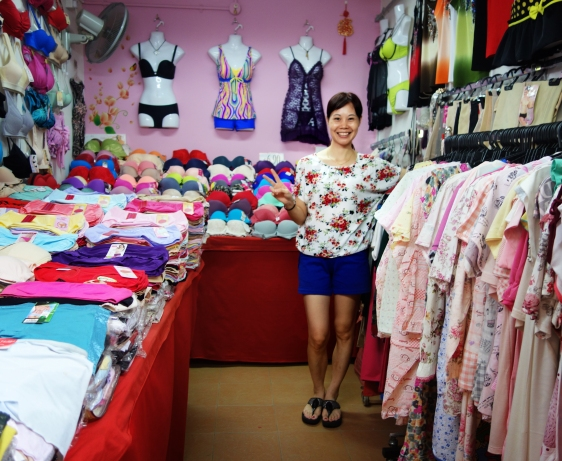Bra shop selling lingerie and pajamas at the market in Singapore   Shopkeeper Stories