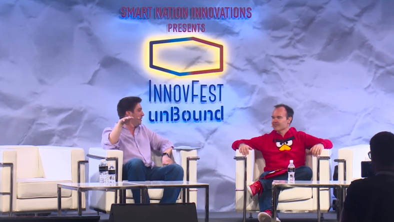 Angry Birds creator Peter Vesterbacka from Rovio Entertainment at InnovFest unBound in Singapore 2016