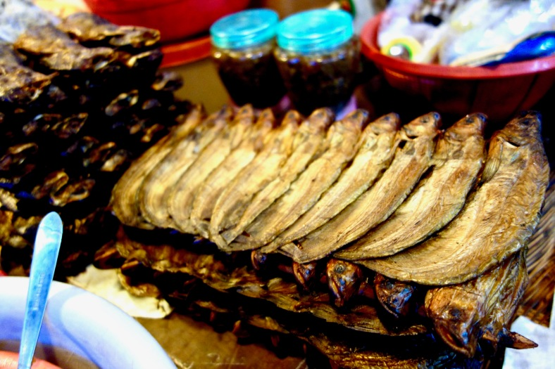 Dried fish at a market in Cambodia - ShopkeeperStories,com